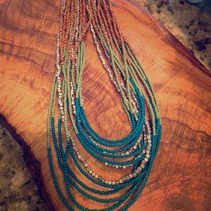 Lia Sophia multi-strand green/turquoise/brown